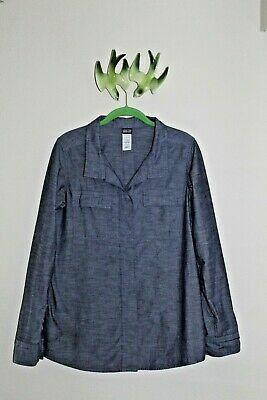 Patagonia Organic Cotton Gray Long Sleeve Shirt Women's 8 for Sale in University Place, WA