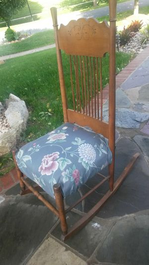 Gorgeous solid cherry wood rocking chair for Sale in Silver Spring, MD