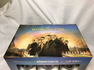 The World's End Collectible Pint Glasses, 12 mint Glasses from the movie for Sale in San Diego, CA