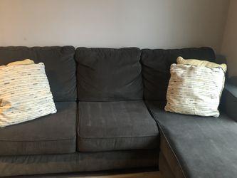 Black/Grey Chaise Sofa for Sale in Washington,  DC