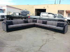NEW 13X13FT CHARCOAL MICROFIBER COMBO SECTIONAL COUCHES for Sale in Yorba Linda, CA