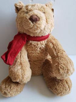 "Quinn The Bear Teddy Bear Quinn Brown Plush Bear With Scarf. Condition is Used With Tags 20"" for Sale in Adelphi, MD"