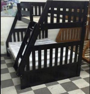 Twin/Full Bunk Bed (Cappuccino) for Sale in Miami, FL