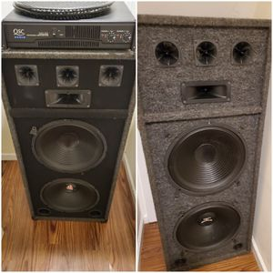 Speakers and Amp For Sell for Sale in Jersey City, NJ