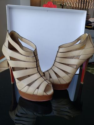 Christian Louboutin Gladiator High Heel summer booties size 37.5 for Sale in New York, NY