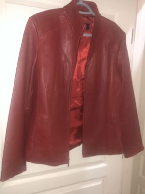 Colbrook Classics Red Leather Jacket, Size L for Sale in Gilbert, AZ