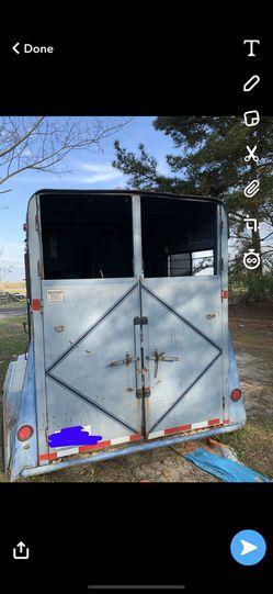 Gooseneck 2 horse pull horse trailer for Sale in Mesquite,  TX