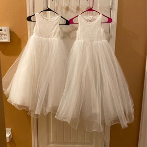 Little Girl Flower Girl Dresses (size 5 & 6) From Davids's Bridal for Sale in Bakersfield, CA