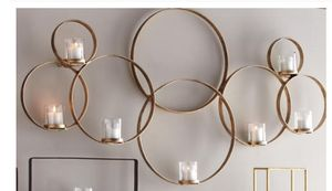 World Market Gold Circle Candle Sconce for Sale in El Cajon, CA