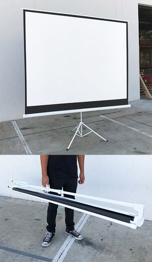 "New in box $65 Tripod 120"" 4:3 Projector Screen Theater Office Pull Down Projection for Sale in Whittier, CA"