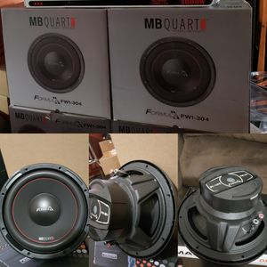 Mb quart 12inch dual voice coil brand new hard hitting subs. for Sale in Phillips Ranch, CA