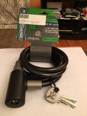 Kryptonite steel cable for bike or motorcycle lock for Sale in Burke, VA