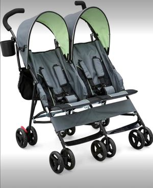Children Toddler Side by Side Umbrella Outdoor Double Stroller Foldable Travel Canopy Brand New for Sale in Toledo, OH