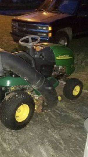 John Deere riding lawn mower with dual collection bags #look at this golf course cut!!! for Sale in Savannah, GA