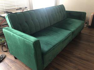 Tufted Green Velvet Futon for Sale in Portland, OR