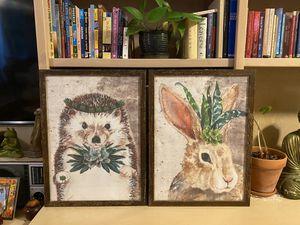 18x24 adorable succulent prints $25 for pair for Sale in Phoenix, AZ