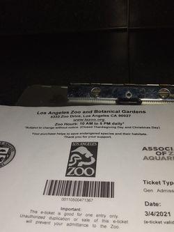 La Zoo Tickets for Sale in Chino Hills,  CA