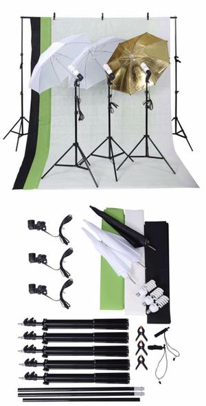 Brand new in box Photo Studio Photography Kit Lights Umbrellas Stands Backdrops Backdrop Frame with Carrying Bag for Sale in Whittier, CA