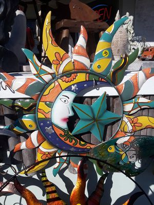 Colorful Sun Moon Star wall art what Talavera design for Sale in Dunedin, FL