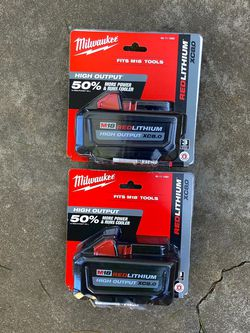 New Milwaukee M18 HIGH OUTPUT 8.0 Batteries for Sale in Modesto,  CA