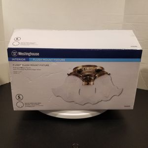 New In Open Box Westinghouse Interior 3 Light Flush Mount Fixture for Sale in Lufkin, TX
