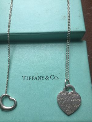2 Tiffany and Co 925 necklaces for Sale in Orlando, FL