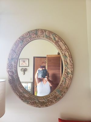 Large wall mirror with flowers for Sale in Kaneohe, HI