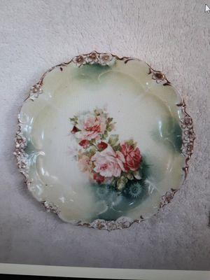 "Reinhold Schlegelmilch R S Prussia Flower 6"" Hand DecoratedPorcelain Plate for Sale in Washington, IL"