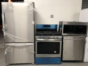Stainless steel 4pcs kitchen for Sale in Elizabeth, NJ