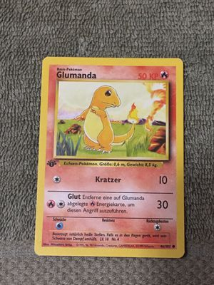 Charmander Base Set German Glumanda Pokemon 1st Edition for Sale in Mesa, AZ