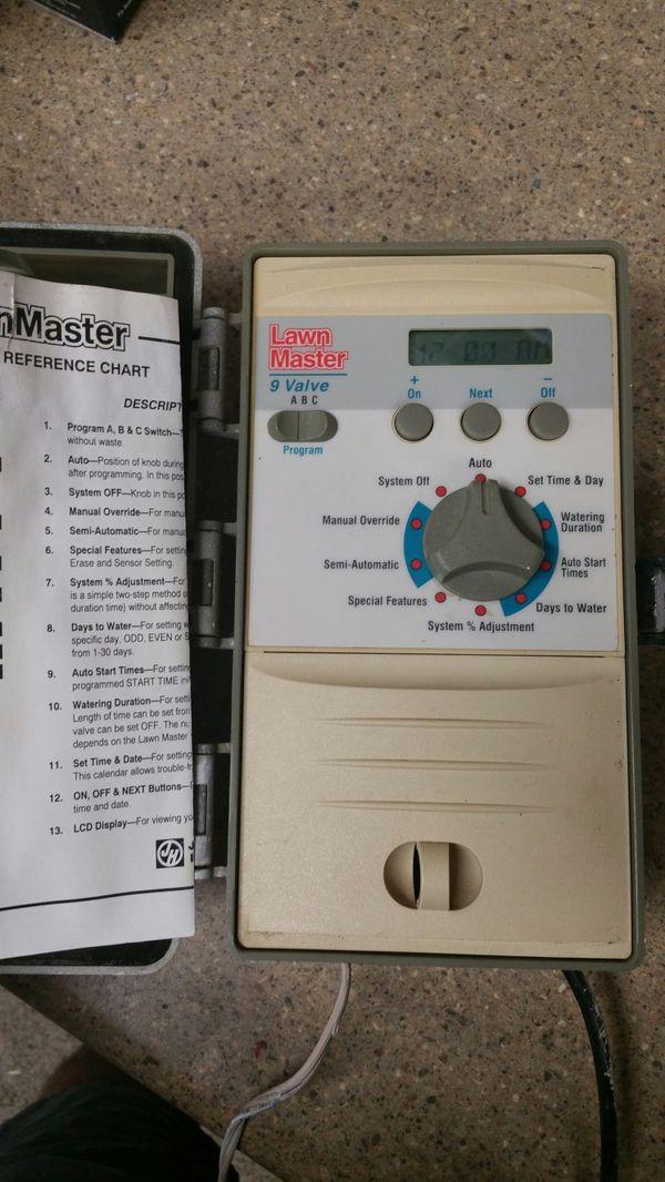 Lawn Master irrigation sprinkler timer 9 valve for Sale in Phoenix, AZ -  OfferUp