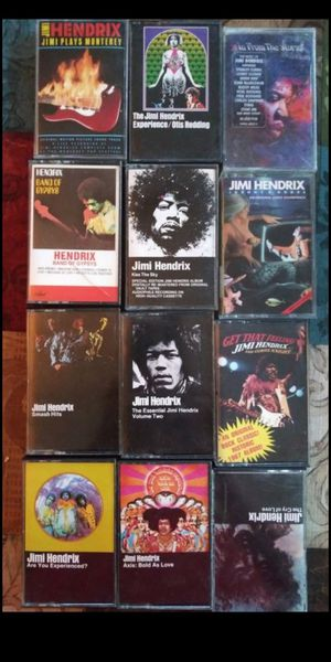 12 AWESOME MEGA RARE JIMI HENDRIX OOP! MUSIC CASSETTE TAPES for Sale in San Bernardino, CA