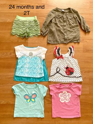 Lot of toddler girl summer clothes, sizes 24 months and 2T, $9 for everything, kids clothes for Sale in Surprise, AZ