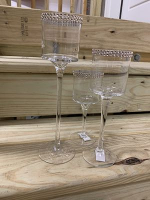 Glass wedding centerpieces for Sale in Apex, NC