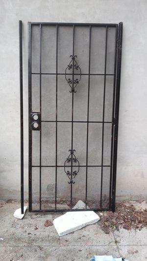 36 1/2 x 80 the door measure & the frame measure 38 1/2 x 80 steel security door Hablo Espanol for Sale in Jonesboro, GA