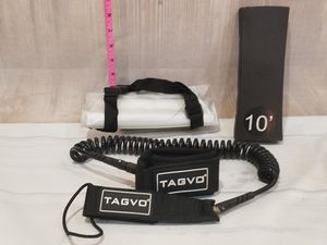 @CHV TAGVO SURFBOARD SURF BOARD SWIVEL LEASH 10' COILED BLACK & WATERPROOF PHONE BAG for Sale in Santa Clarita, CA
