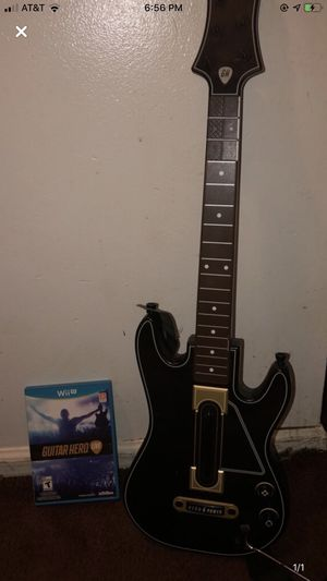 Guitar hero live with guitar Wii U for Sale in High Ridge, MO
