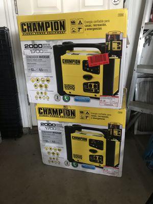 Champion 2000K generator inverter new 350.00 ea for Sale in Meridian, ID