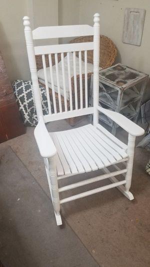 White Cracker Barrel Rocking Chair for Sale in Falls Church, VA