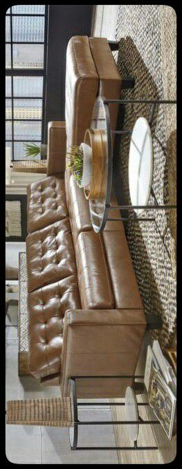 ✔Ashley✔ Baskove Auburn Leather RAF Sectional for Sale in Hyattsville, MD
