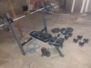 Olympic weight bench for Sale in Irwin, PA