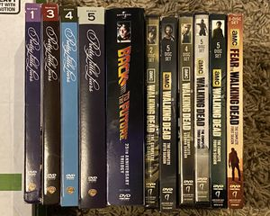 Dvd seasons assorted shows 5 each or offer for Sale in St. Louis, MO