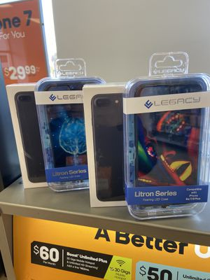 iPhone 7 + & Litron LED cases for Sale in Eugene, OR
