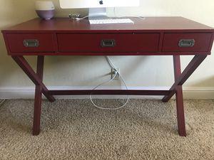 Dark red modern computer desk for Sale in Oakland, CA