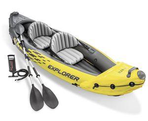 Intex Explorer K2 Kayak, 2-Person Inflatable Kayak Set with Aluminum Oars and High Output Air Pump for Sale in Tamarac, FL