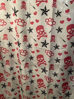 Pink & black punker rockabilly shower curtain for Sale in Hesperia, CA