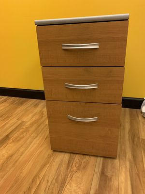 Light Oak 3 Drawer File Cabinet - by Bush Business Furniture for Sale in Chesapeake, VA