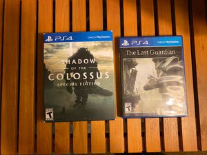 Shadow of the Colossus special edition and The Last Guardian for PS4 for Sale in Richmond, CA