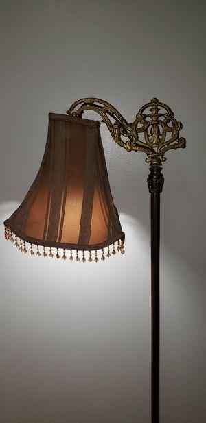 Antique Bronze Brass Art Noveu Bridge Arm Floor Lamp for Sale in Monroeville, NJ