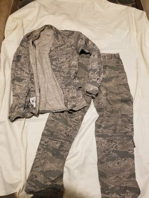 US Airforce camo pants and shirt. for Sale in Brush Prairie, WA
